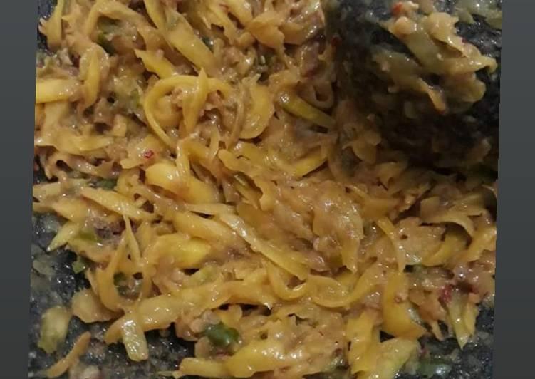 """Resep: Sambal mangga """"gila"""" 😉 lezat"""