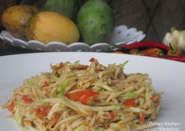 Resep membuat Sambal Mangga yang bikin ketagihan