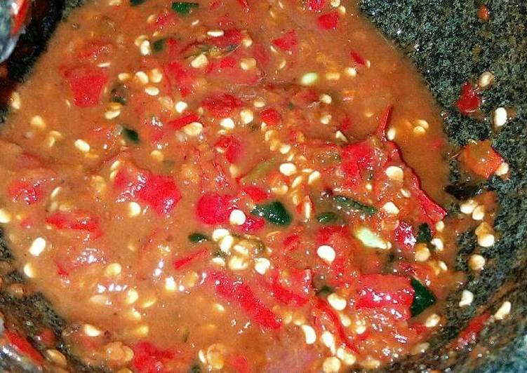 Resep memasak ❤ Sambal Belacan Orang Melayu Baru Belajar 😍 yang menggugah selera