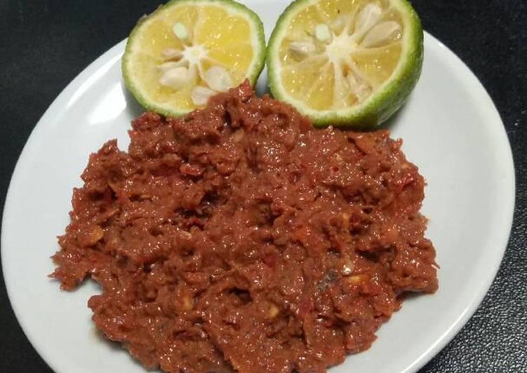 Resep: Belacan (sambal terasi mentah) istimewa