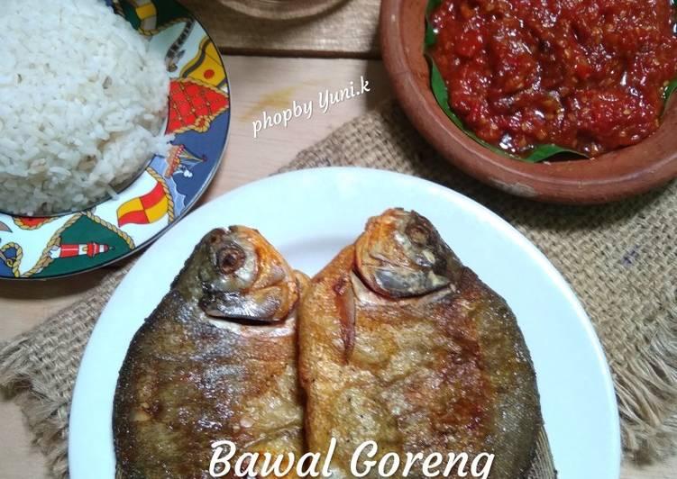 Resep memasak Bawal goreng Sambel trasi istimewa