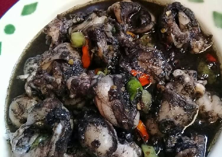 Cara Mudah mengolah Sotong masak hitam sedap