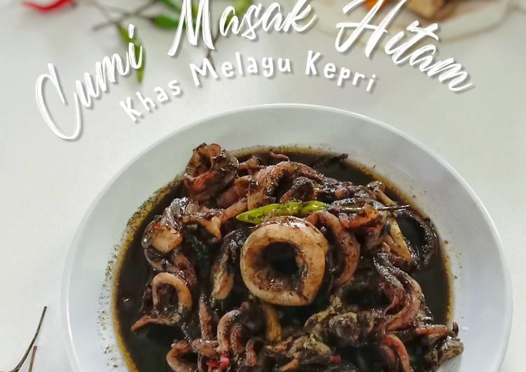 Cara Mudah memasak Cumi masak hitam lezat