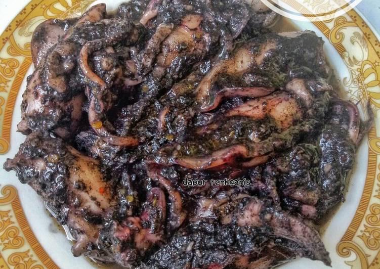 Resep: Cumi masak hitam enak