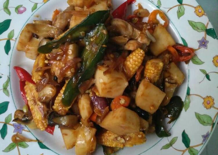 Cara Mudah membuat Gonggong(siputlaut) saus tiram campur jagung muda istimewa