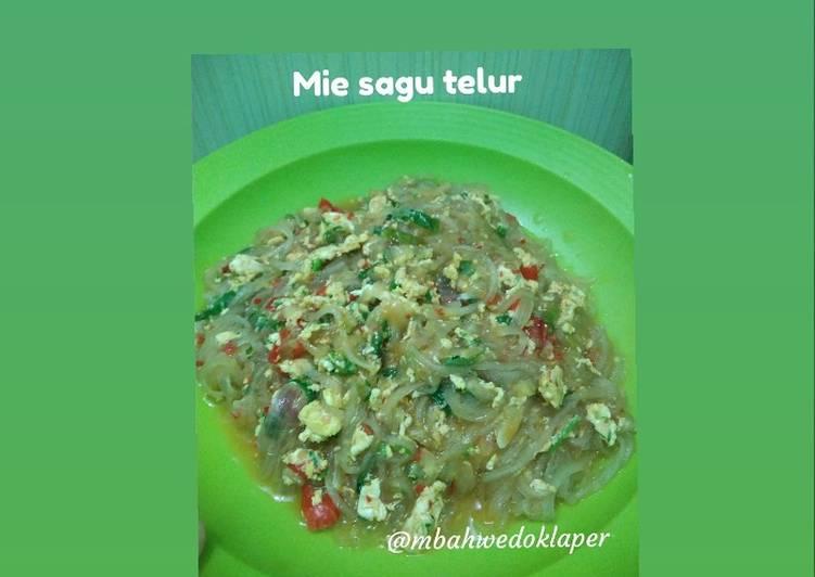 Cara Mudah memasak Mie Sagu Telur yang menggugah selera