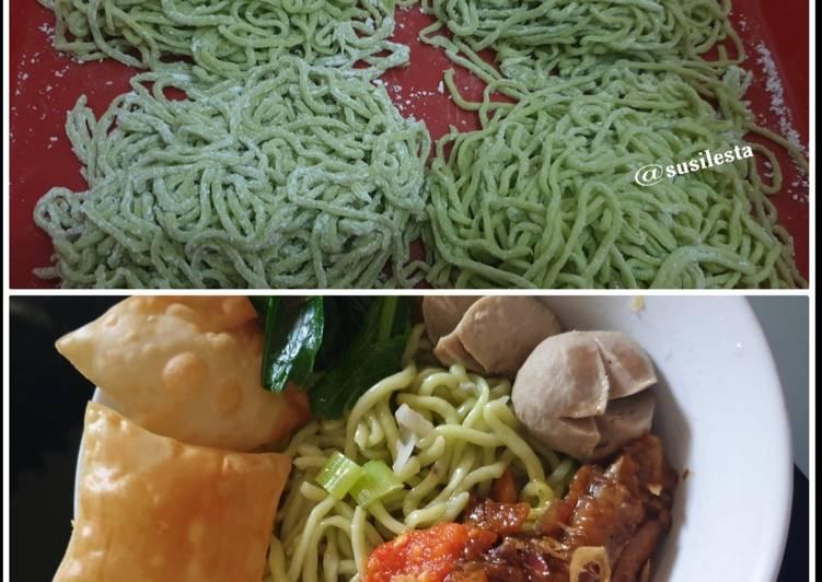 Resep: Mie Homemade Kenyal dan Sehat enak