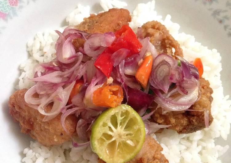 Resep: Nasi ayam sambal matah (resep bakulan saya)