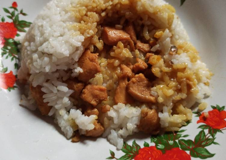 Cara mengolah Nasi Ayam Jamur yang bikin ketagihan
