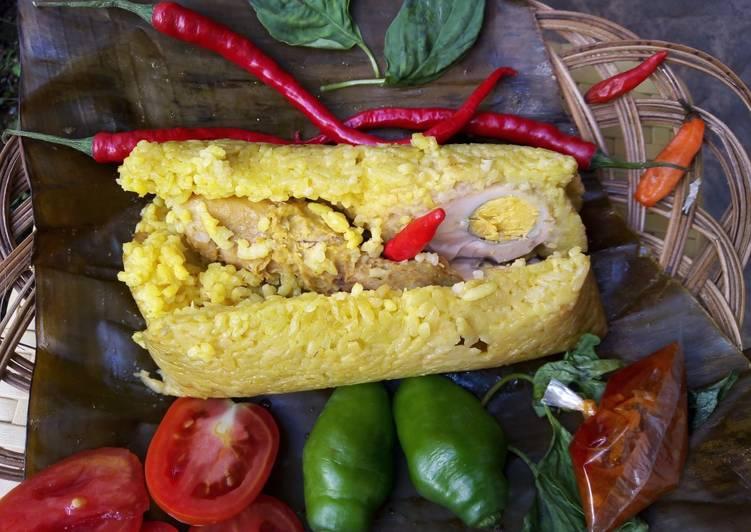 Resep: Pepes Nasi Isi Ayam dan Telur ayam