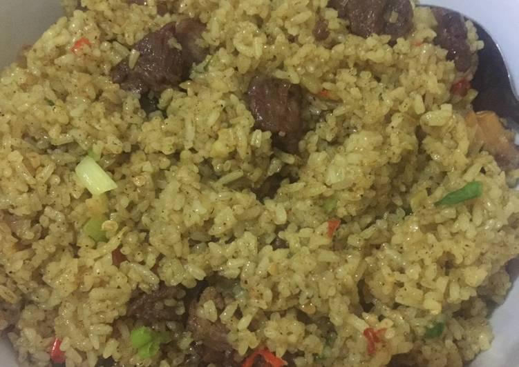 Resep membuat Nasi goreng kambing kebuli lezat
