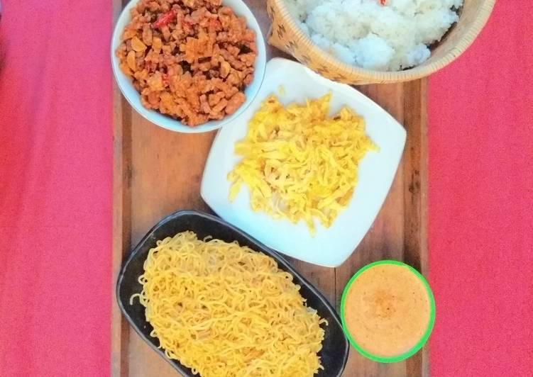 Resep memasak Nasi uduk komplit, simpel dan ekonomis ala resto