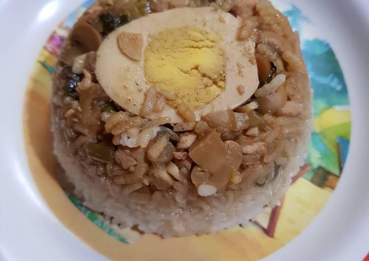 Resep: Nasi Tim Ayam jamur enak