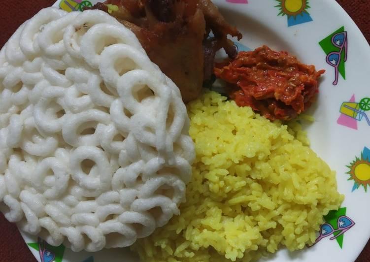 Cara Mudah mengolah Nasi Kuning Rice Cooker yang menggugah selera