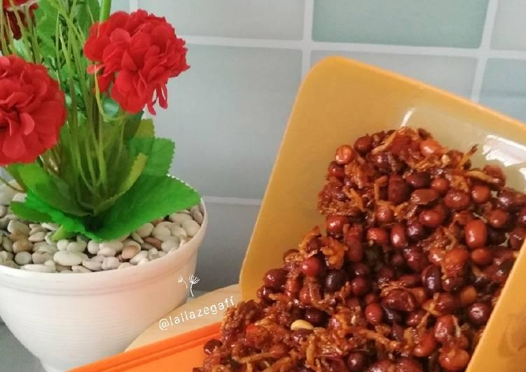 Cara membuat Sambal Kacang Teri Medan (teri nasi) sedap