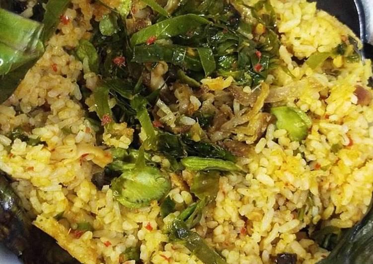 Nasi Bakar Ayam Suir (vegan)