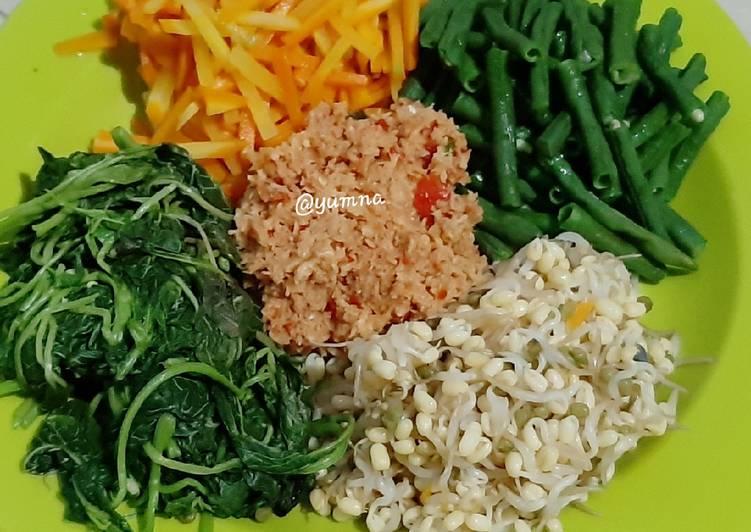 Cara Mudah memasak Urap Sayur a.k.a Gudangan yang bikin ketagihan