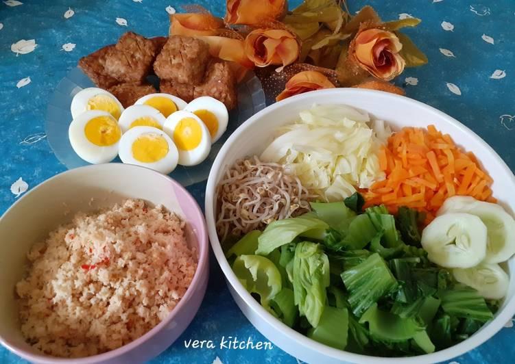 Cara Mudah membuat Kluban sayur/urap lezat