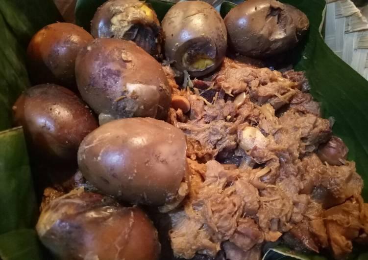 Cara Mudah mengolah Gudeg nangka muda (cook with pressure cooker) istimewa
