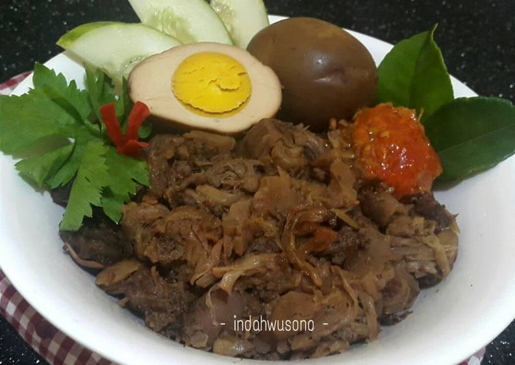 Resep: Gudeg Nangka, Daging dan Telur yang bikin ketagihan