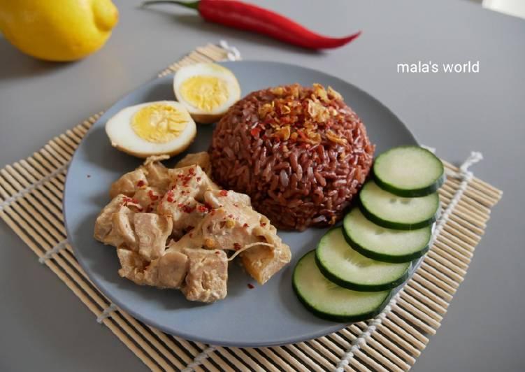 Resep: Gudeg Nangka dan Nasi Merah enak