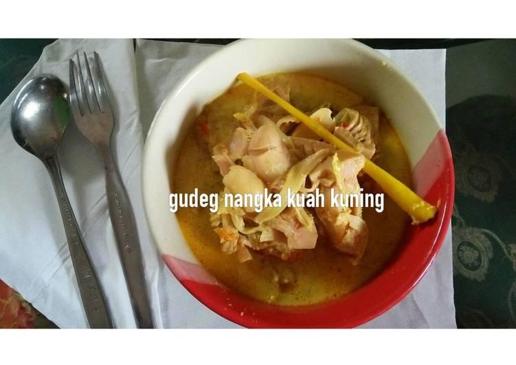 Cara Mudah memasak Gudeg nangka kuah kuning istimewa