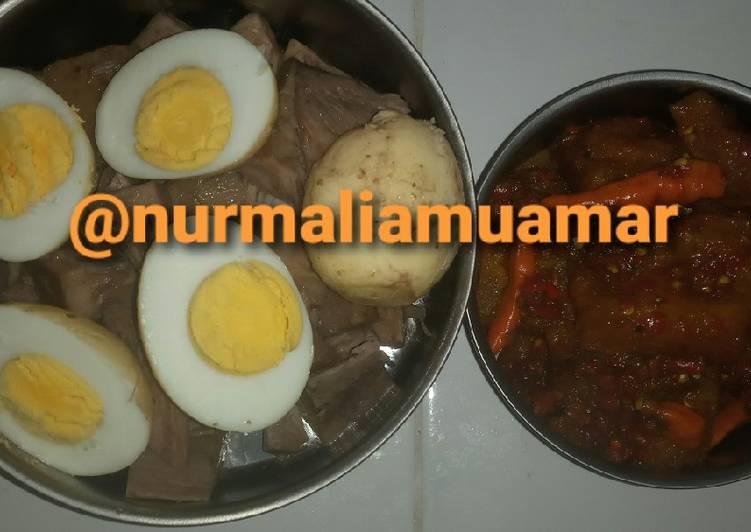 Resep: Gudeg telur plus sambel krecek simpel enak enak