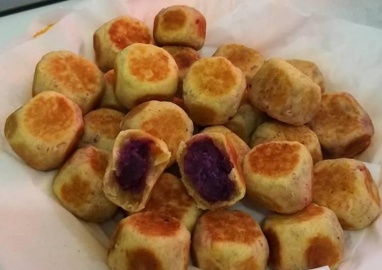 Resep: Bakpia ubi ungu lezat