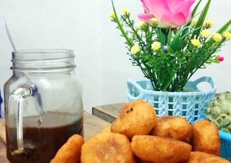 Cara Mudah memasak Cemplon (singkong goreng isi gula merah) yang bikin ketagihan