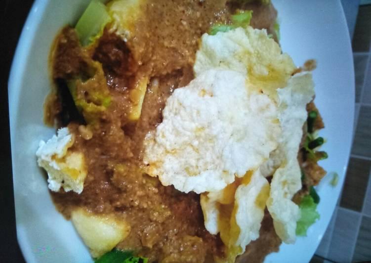 Resep: Resep sayur gado2 bumbu kacang sedap