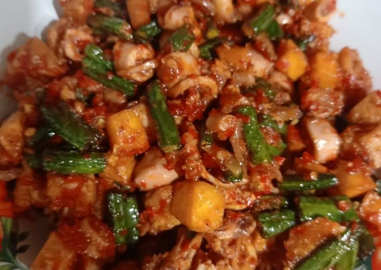 Cara memasak Sambal gado2 baby cumi ala resto