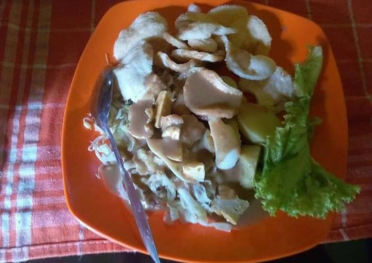 Resep: Gado gado lontong khas Suroboyo lezat