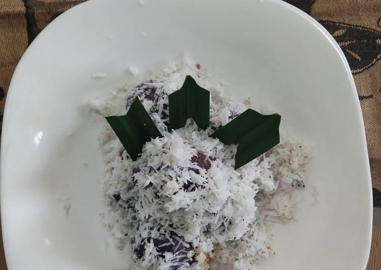 Cara mengolah Klepon ubi ungu.. ala resto