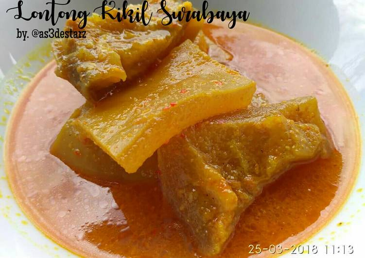 Resep: Lontong Kikil Surabaya ala resto