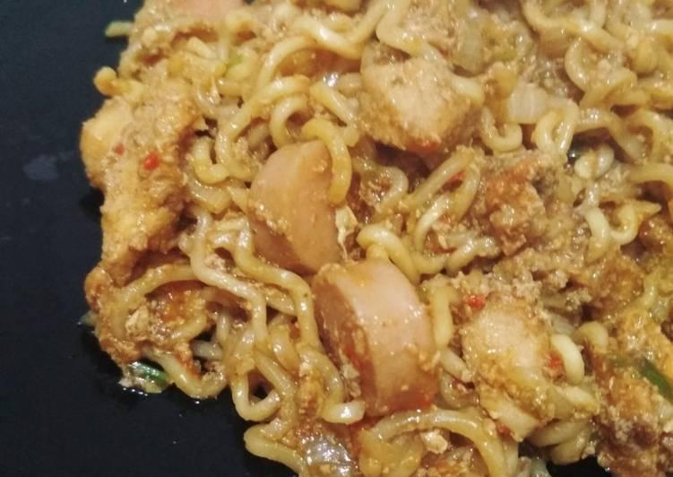 Cara memasak MIE TEK TEK GORENG (mie instan) ala resto