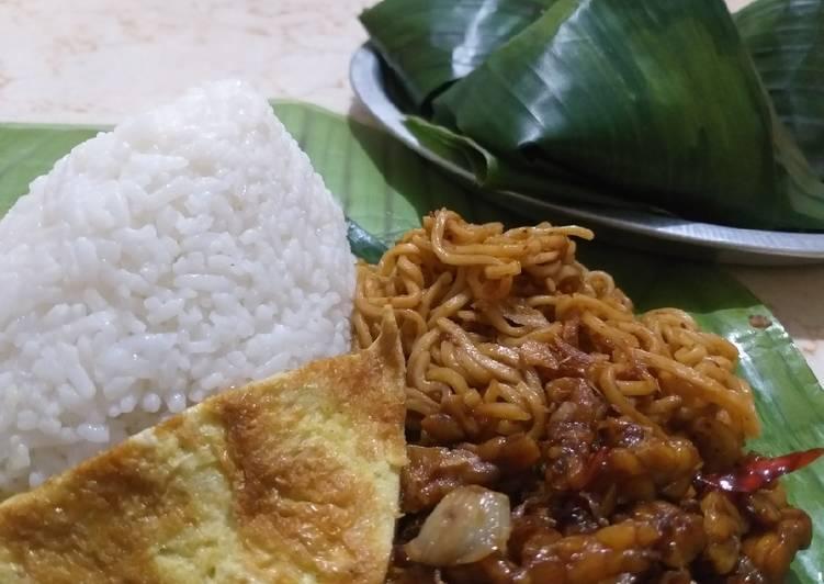 Nasi kucing a la angkringan+tutorial bungkus daun pisang