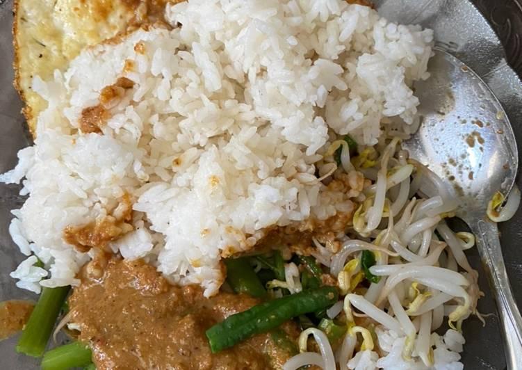 Cara mengolah Nasi pecel jawa simple murah