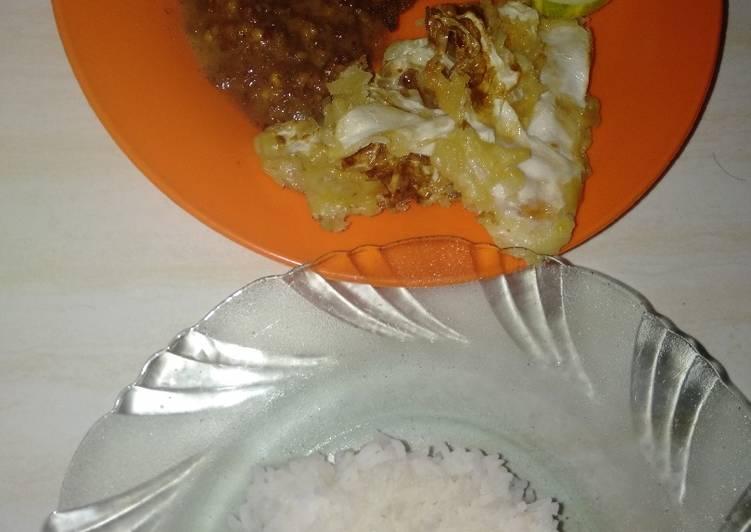 Resep mengolah Nasi pecel ayam goreng sedap