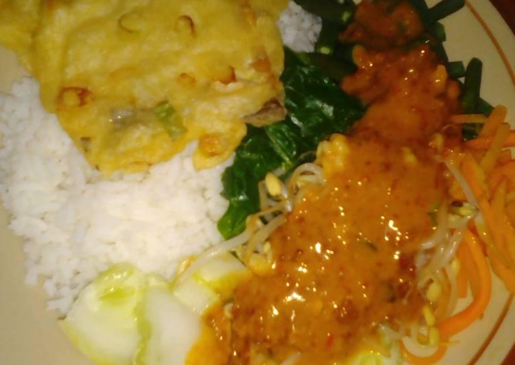 Cara Mudah membuat Nasi pecel enak