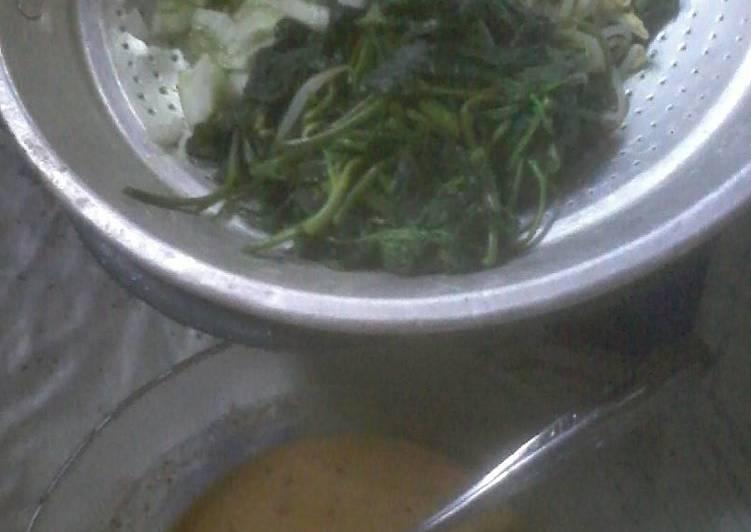 Cara Mudah memasak Sego pecel/nasi pecel homemade