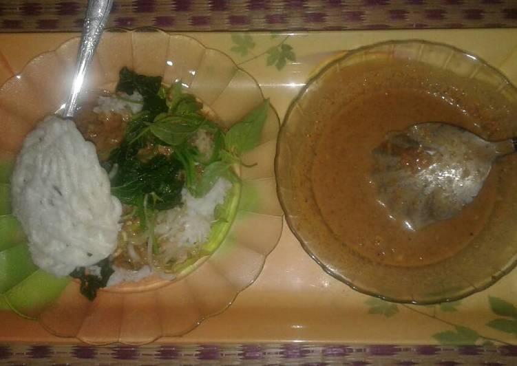 Resep memasak Nasi Pecel Simpel ala resto