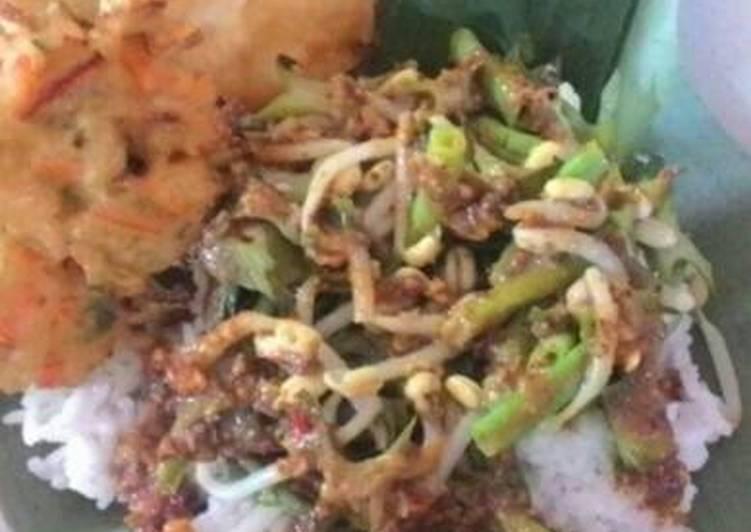 Cara membuat Nasi pecel