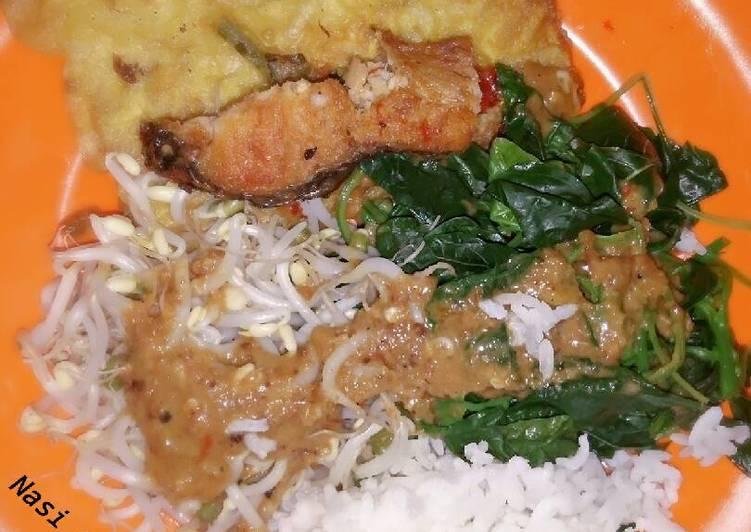 Resep: Naspelang (Nasi pecel Malang) ala resto