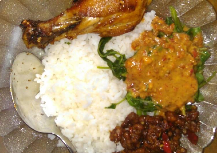 Resep: Nasi pecel ndeso#sarapanku yang bikin ketagihan