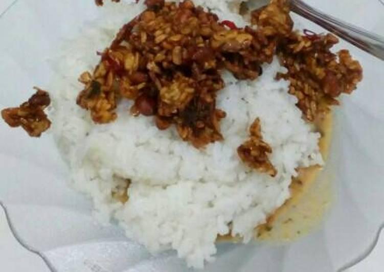 Resep memasak Nasi pecel ala kadarnya yang menggugah selera