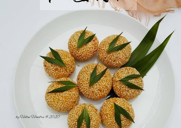 Cara Mudah memasak Onde-Onde isi unti kelapa