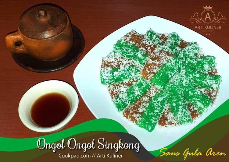 Resep memasak Ongol ongol singkong saus gula aren yang bikin ketagihan