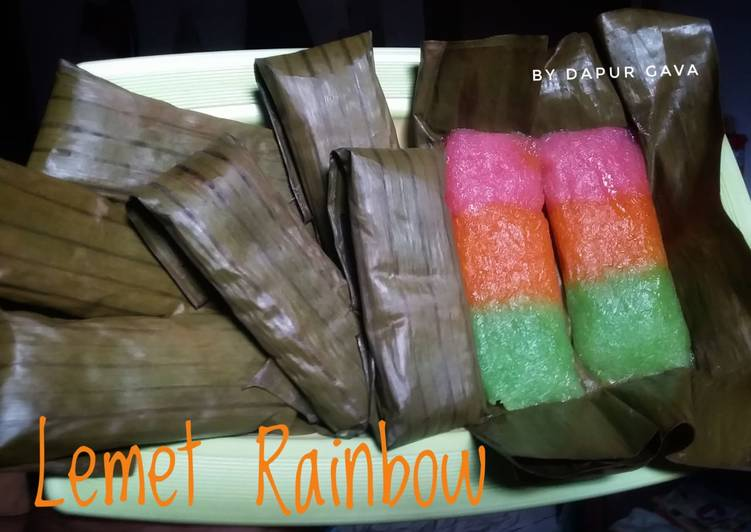 Resep: Lemet rainbow (ongol-ongol) yang bikin ketagihan