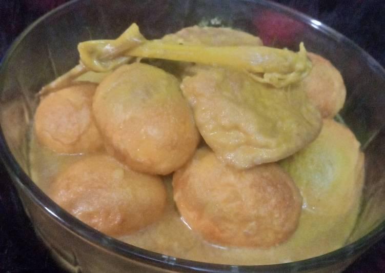 Resep memasak Opor ayam tahu