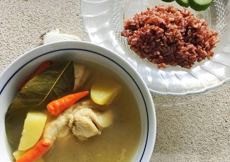 Cara Mudah membuat Opor Ayam diet tanpa santan sedap